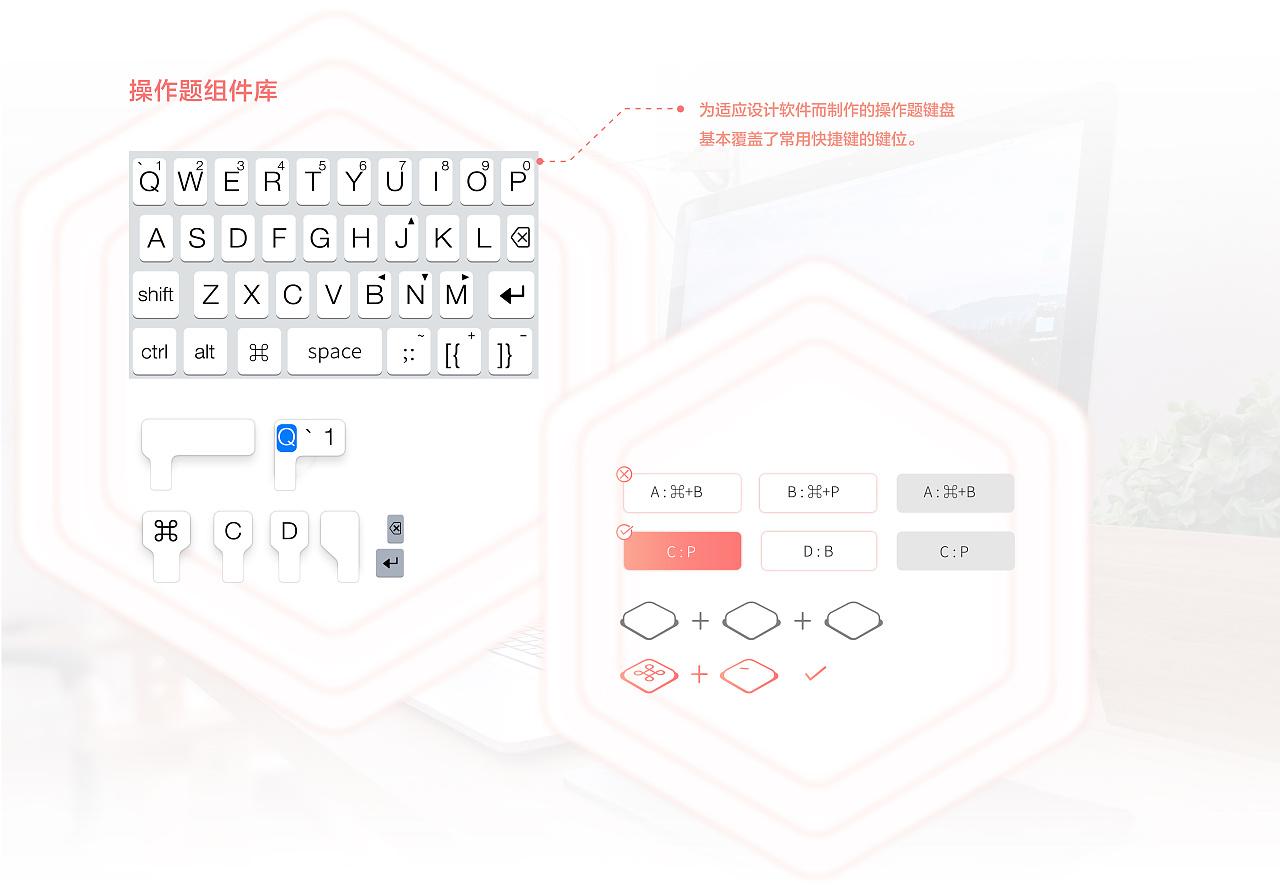 快捷键APP(ShortcutKey)个人学习类软件UI&姓名产品标志设计图片