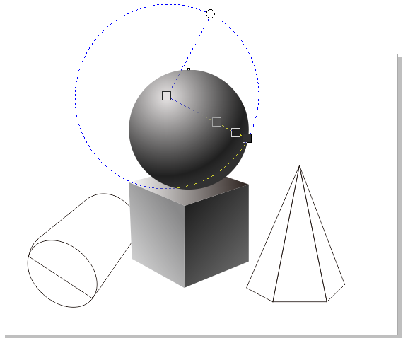 AW X8绘制素描几何图形图片