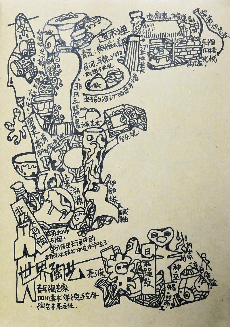 手绘学习笔记之陶艺学习|插画|教程|江村 - 原创文章