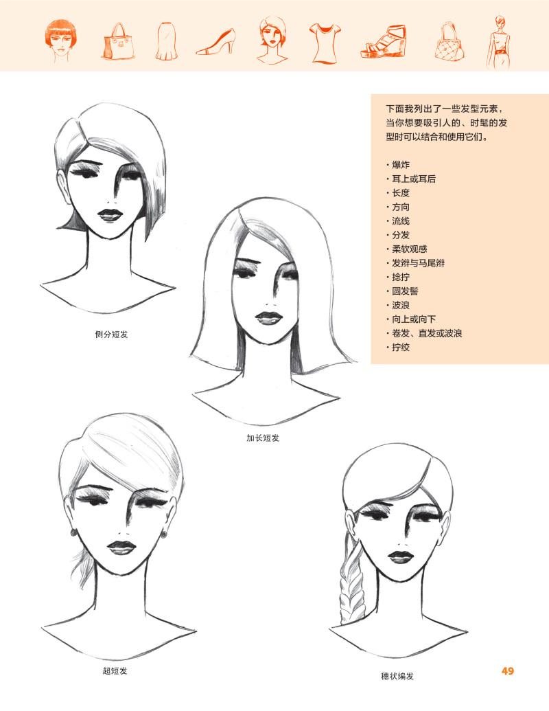 书籍:《时装设计手绘表现——零基础学画人体造型,服装,时尚单品》