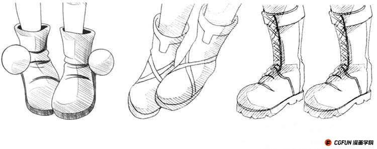 教你如何画好漫画教程80-鞋子的绘制 绘画 原创