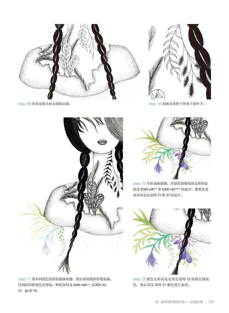 《幻画宴 唯美线体商业插画手绘教程》图书内容分享