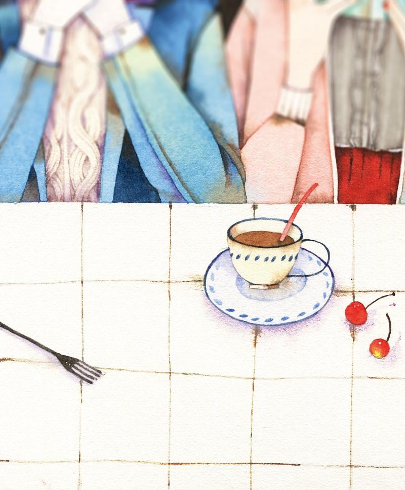 """你好""""猫先森""""——暖系水彩插画手绘教程"""