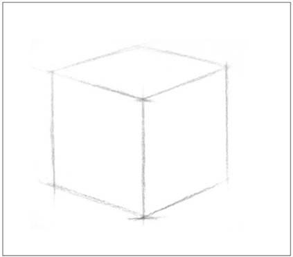 【每日一学】:5 素描基础——几何体的画方法(正方体)