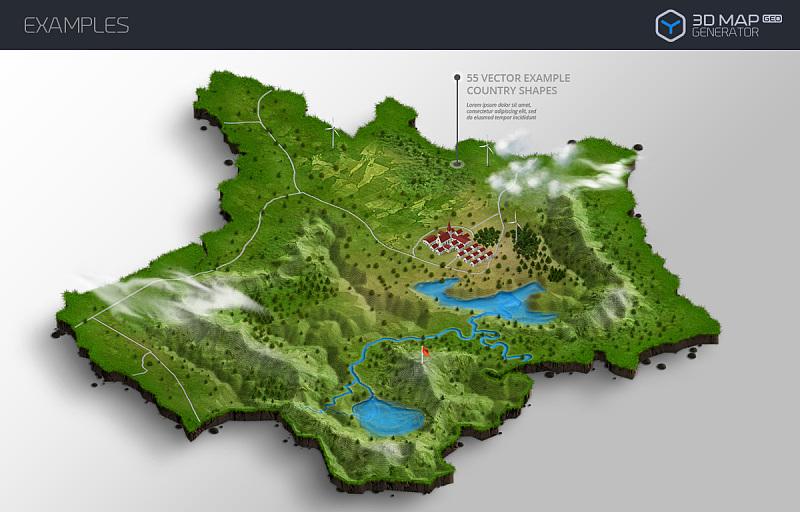 三维城市地图生成制作PS软件插件(含高清视频