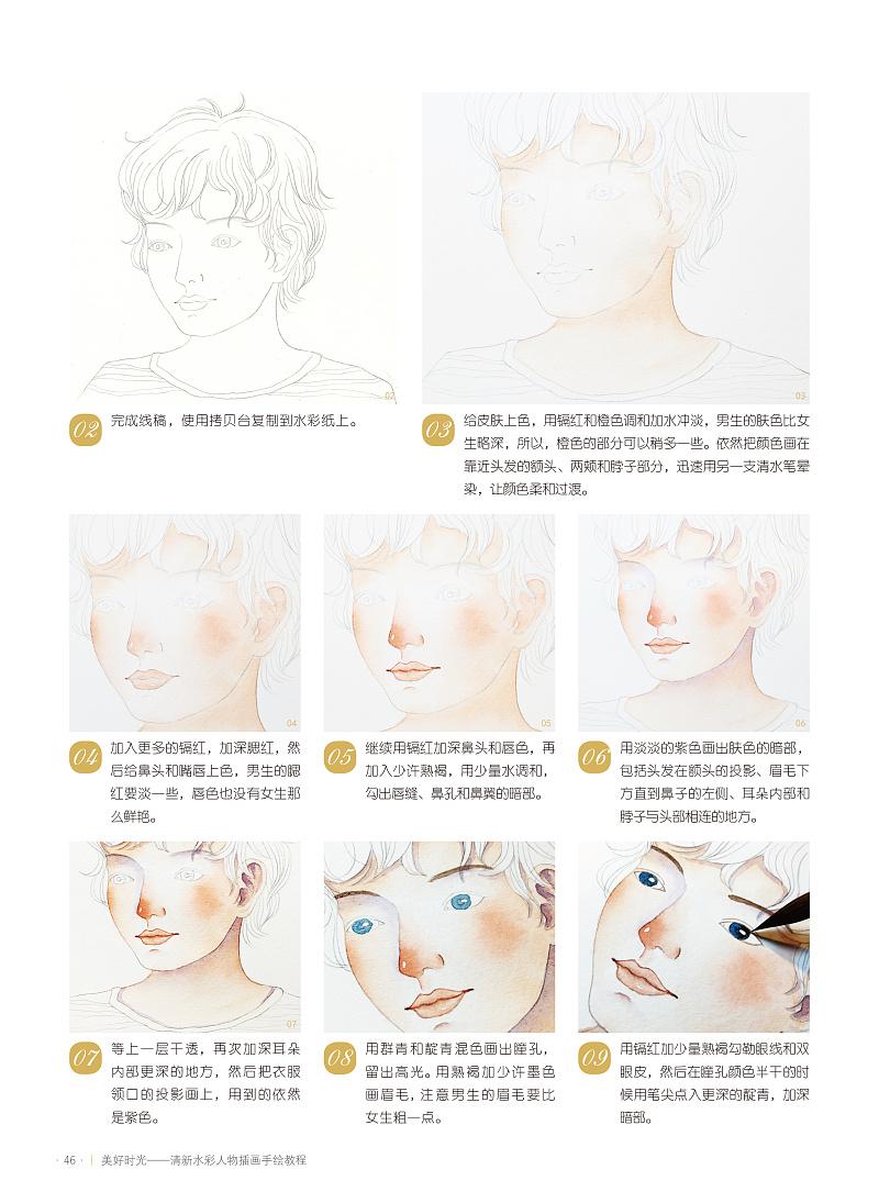 清新水彩人物插画手绘教程》图书内容