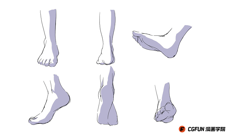 教你如何画好漫画教程40-脚的画法 绘画 原创\/