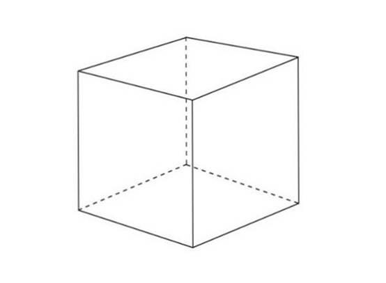 两点透视立方体