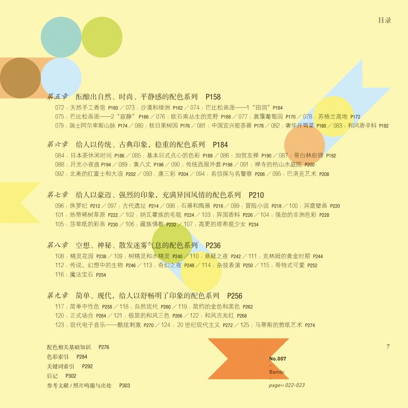 《日本主题手绘速查内容》生日平面配色 海报分享v主题手册图书图片素材图片
