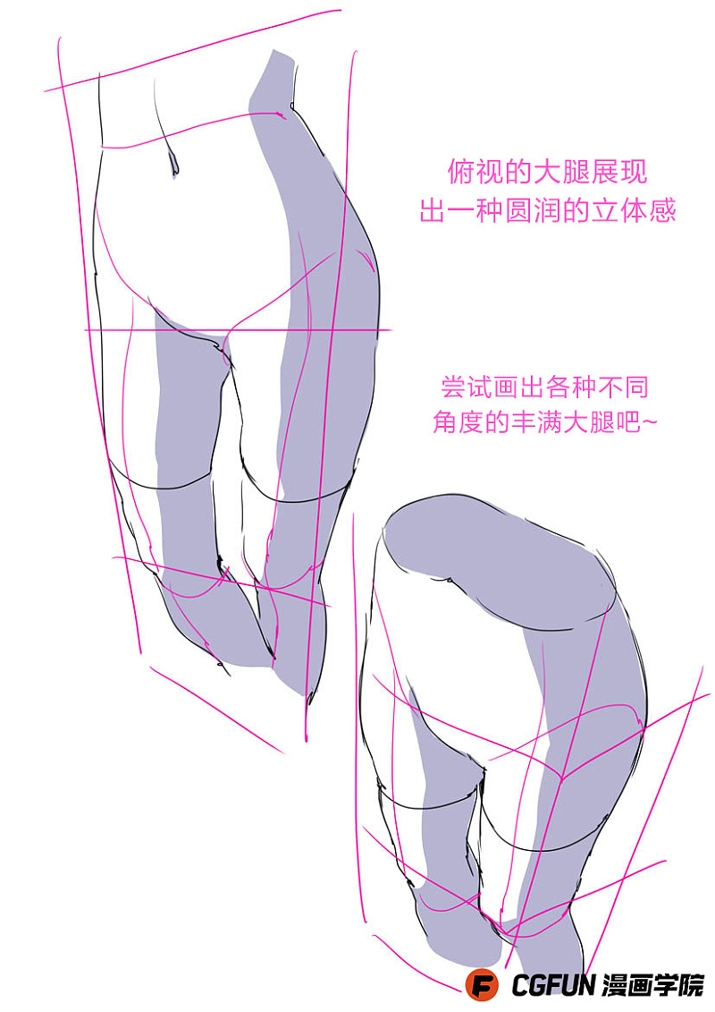 教你如何画好漫画教程47 大腿的画法