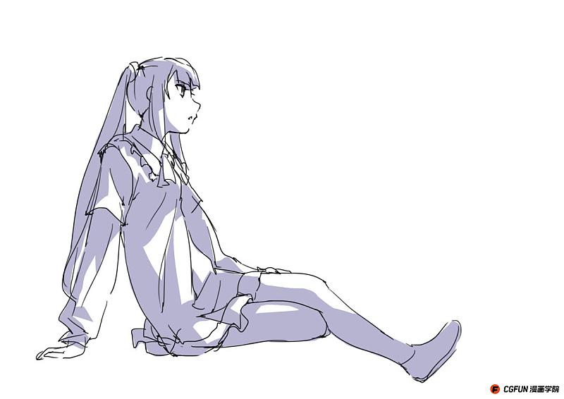 教你如何画好漫画教程41 坐下时的大腿如何画