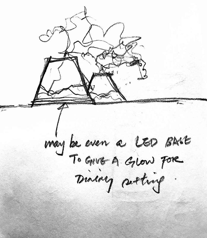 招聘背后展示出设计过程理念的草图海南天弘建筑设计有限公司设计图片
