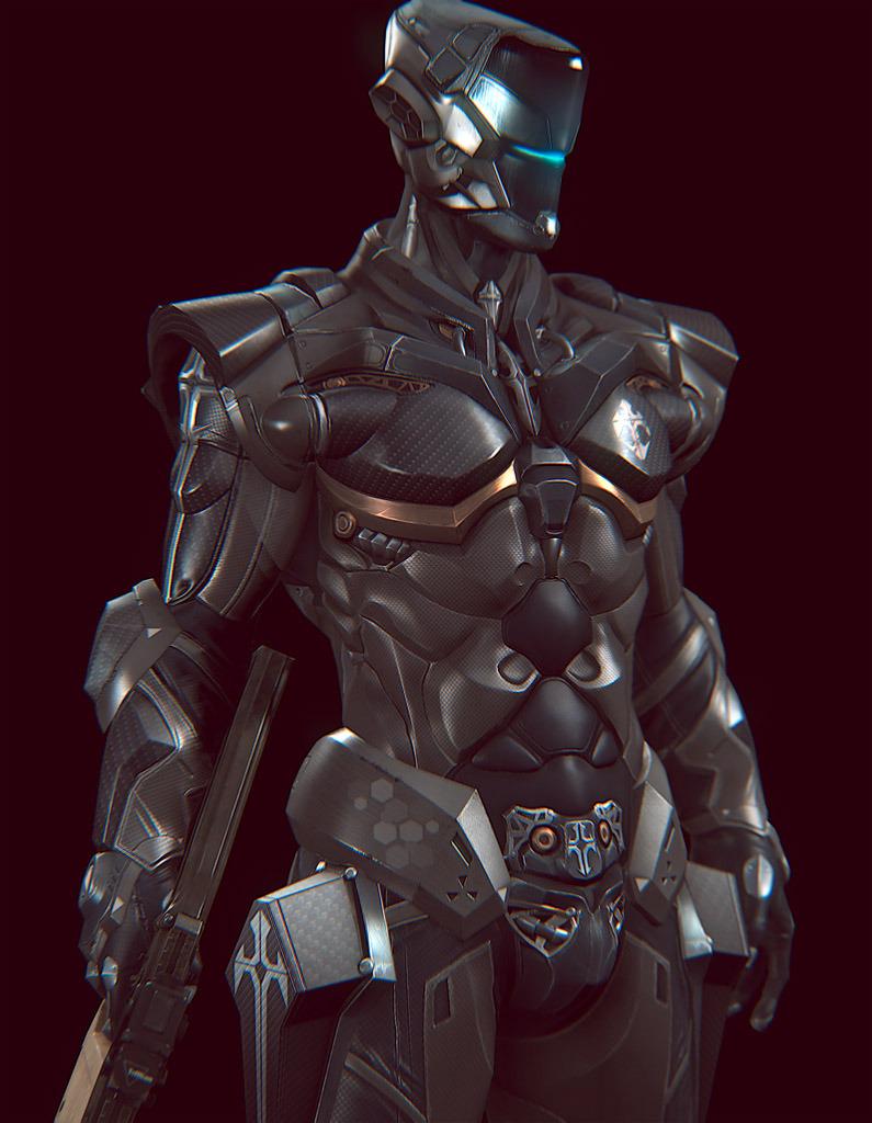 科幻人形装甲原画设定图集