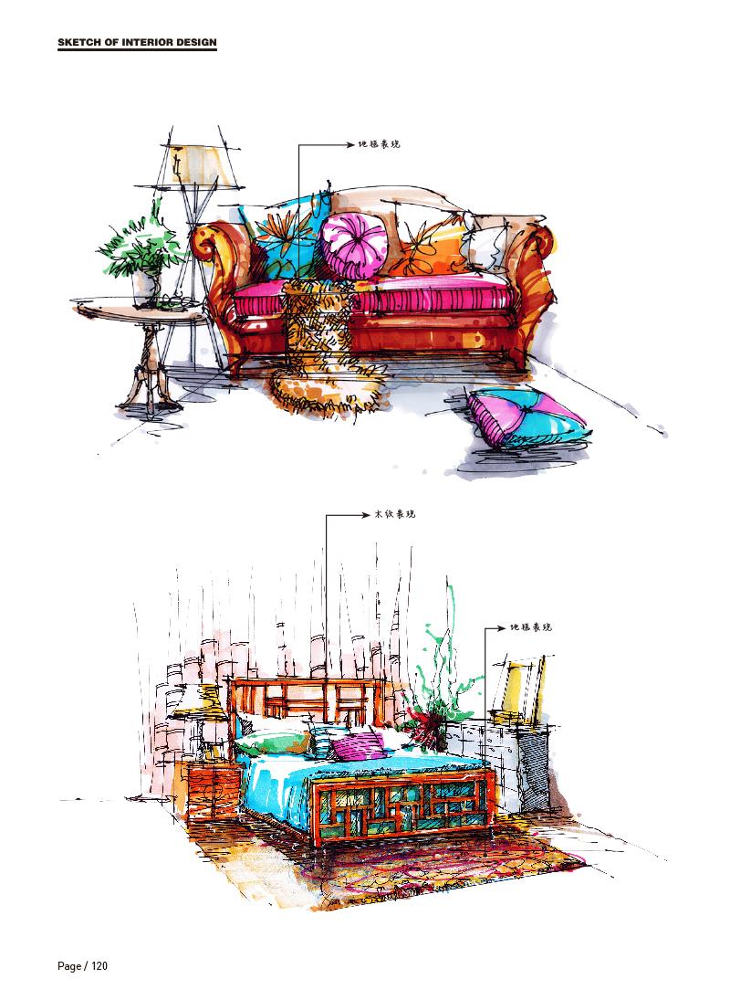 《室内设计手绘完全解析》图书内容分享