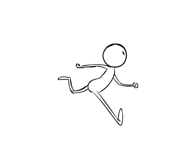 动画入门教程:怎样画一个奔跑的人