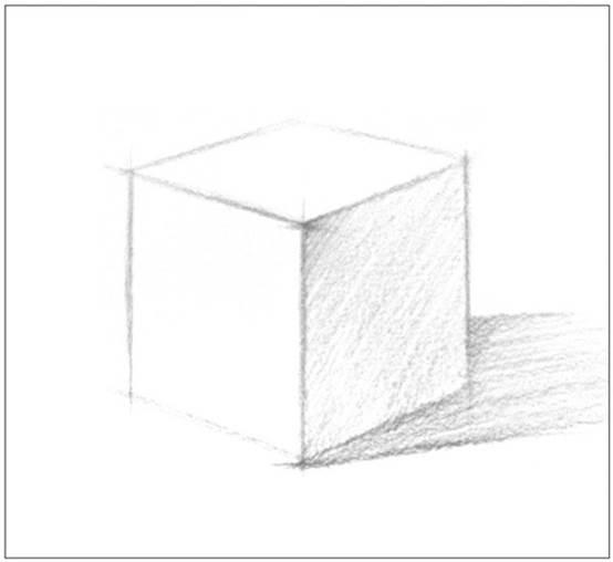 【每日一学】:5 素描基础——几何体的画方法(正方体)(原创文章)