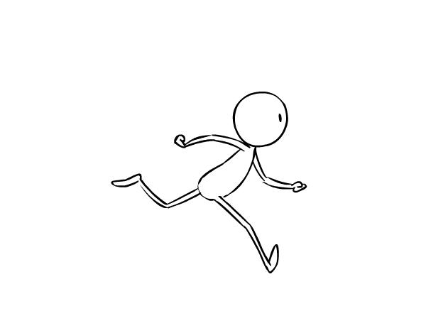 首页 设计资讯 设计教程 正文 当小人抬起它的腿跑步的时候,我通过让