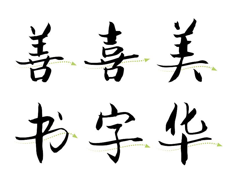 传承中国书法审美韵味的宋体字图片