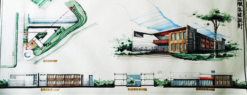 建筑快题设计采分点第二弹——立面图与剖面图表达