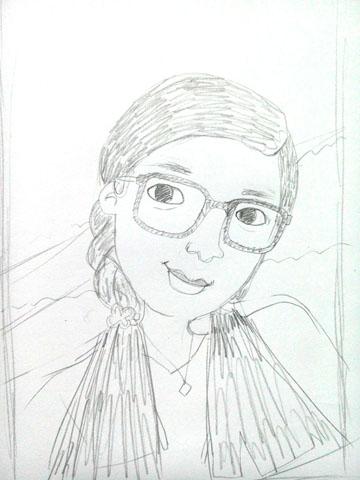 送给闺蜜的简单铅笔画