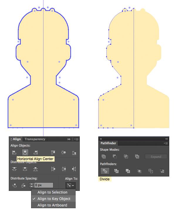 人物头像剪影矢量图
