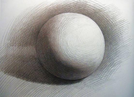 6 素描基础 几何体的画方法 球体图片