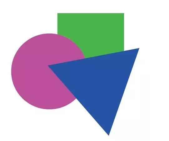 一个正方形和一个三角图片