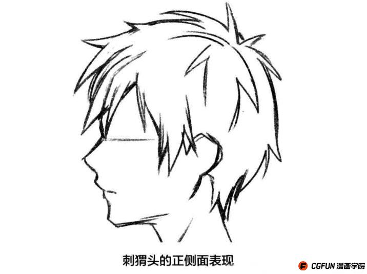 """今天为大家带来的是cgfun漫画学院的原创教程""""男性发型的绘制诀窍""""图片"""