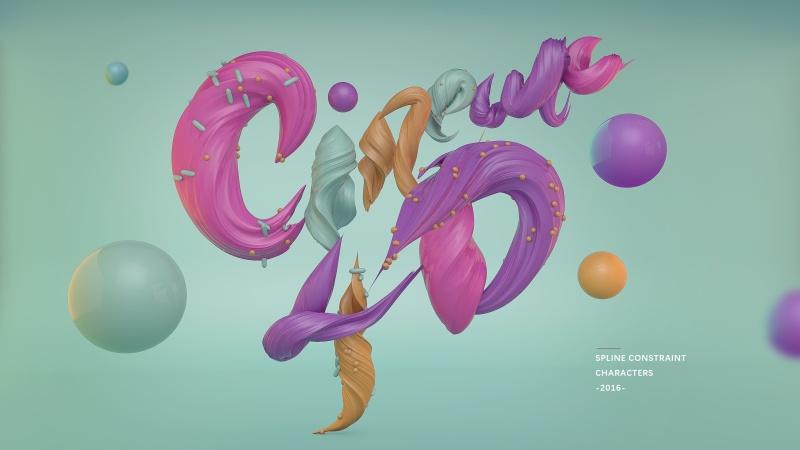 CINEMA 4D 制作文字海报教程0▌╔┝┠ +_罗定装饰设计培训