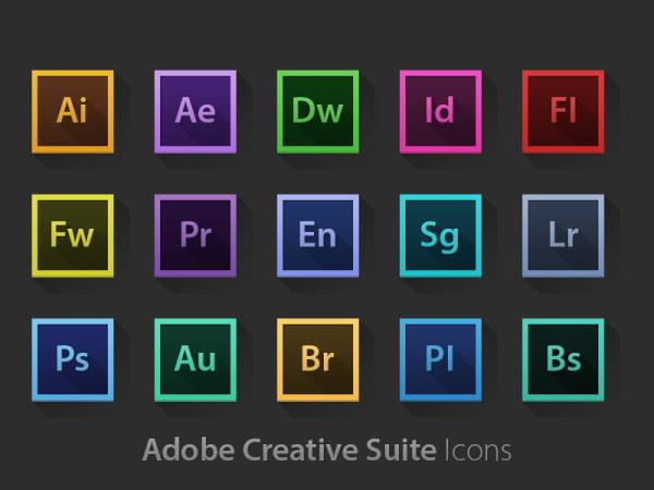 Adobe系列软件长投影图标PSD素材-图标-PSD