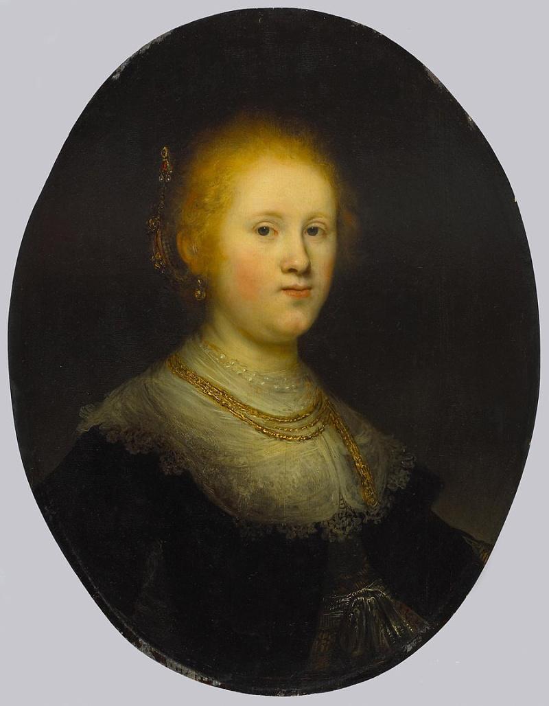 伦勃朗《一个年轻女人的肖像》