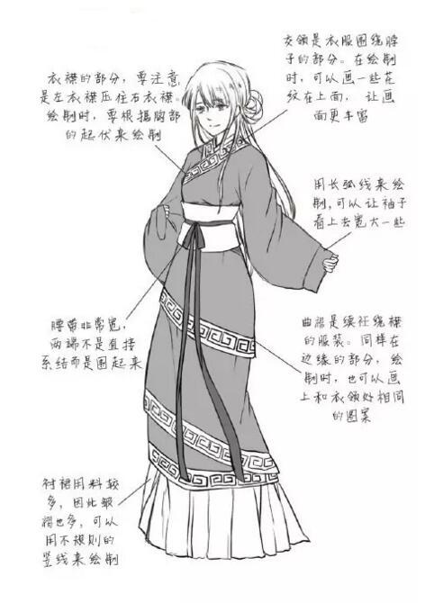 q版汉服的漫画绘画技巧|平面-ui-网页|观点|chahuaren