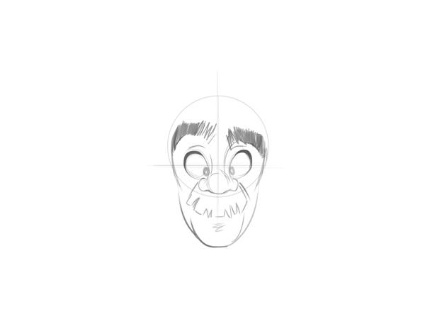 如何画好卡通人物的脸图片