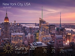 Yahoo雅虎天气Windows 8版App Modern UI界面设计