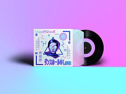 vaporwave(蒸汽波)风格CD盒包装设计