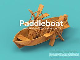 leonardo da vinci-Paddleboat