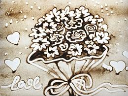 沙画《母亲节快乐》献给亲爱的妈妈