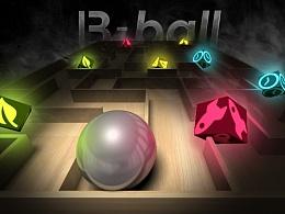 增强现实游戏<B-ball>宣传海报
