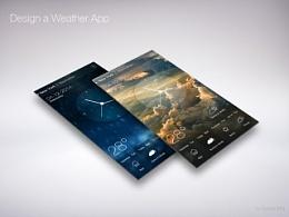 一款天气App设计。
