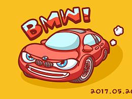 小汽车插画