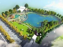 新农村涝池景观设计