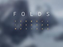 简洁折纸风格icon和borderless后台界面UI设计