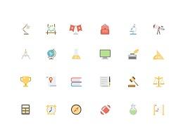 扁平化icon之教育类