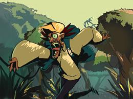5年前的动画,《hunting,hunter》