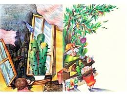 仙人掌的秘密——彩铅绘本练习