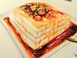 【手绘美食】第三菜川北凉粉