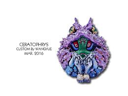 大山竜 角蛙【紫·荔枝】