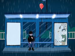 《Alone》系列插画