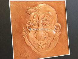 皮雕皮艺-被吸引的老者