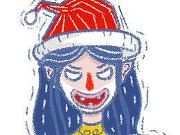 day4-每日一画-圣诞妹子